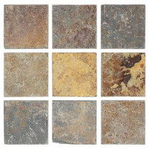 Jeffrey Court Tumbled Slate 4 in. x 4 in. x 8 mm Floor and Wall Tile (9 pieces/1 sq.ft./1 pack)