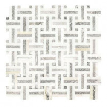 Jeffrey Court Windswept 13 in. x 13 in. x 8 mm Marble Mosaic Wall Tile