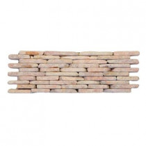 Solistone Standing Pebbles Rosettes 4 in. x 12 in. x 15.875mm - 19.05mm Pebble Mesh-Mounted Mosaic Wall Tile (6 sq. ft./case)