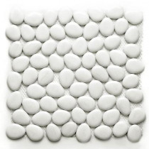 Solistone Freeform Glass Negin 11 in. x 11 in. x 9.525 mm White Glass Mesh-Mounted Mosaic Wall Tile (8.4 sq.ft./case)