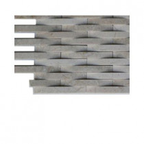 Splashback Tile 3D Reflex Athens Grey Stone Tile Sample