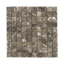 Jeffrey Court Emperador 12 in. x 12 in. x 8 mm Marble Mosaic Floor/Wall Tile