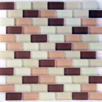 EPOCH Desertz Tabernas Mosaic Glass Mesh Mounted 3 in. x 3 in. Tile Sample
