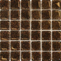 MS International 12 in. x 12 in. Black Glass Mesh-Mounted Mosaic Tile-DISCONTINUED