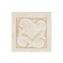 Daltile Fashion Accents Crema Lindau 2 in. x 2 in. Ceramic Listello Wall Tile