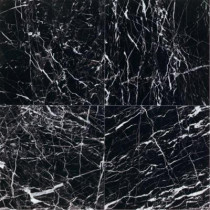 Daltile Natural Stone Collection China Black-Polished 12 in. x 12 in. Marble Floor and Wall Tile (10 sq. ft. / case)