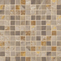 MARAZZI Jade 13 in. x 13 in. x 8-1/2 mm Taupe Porcelain Mesh-Mounted Mosaic Floor and Wall Tile