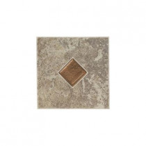 Daltile Castle De Verre Gray Stone 6 in. x 6 in. Porcelain Decorative Floor and Wall Tile