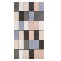 U.S. Ceramic Tile Avila 12 in. x 24 in. Multicolor Porcelain Mosaic Tile-DISCONTINUED