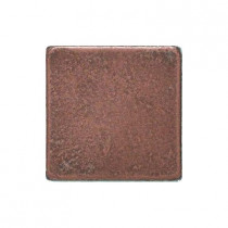 Daltile Castle Metals 2 in. x 2 in. Aged Copper Metal Insert Accent Tile