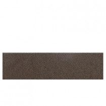 Daltile Colour Scheme Artisan Brown Speckled 3 in. x 12 in. Porcelain Bullnose Floor and Wall Tile