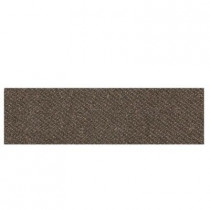 Daltile Identity Oxford Brown Fabric 4 in. x 12 in. Polished Porcelain Bullnose Floor and Wall Tile