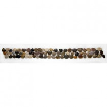 Solistone Anatolia Rumi 4 in. x 39 in. x 12.7 mm Natural Stone Pebble Border Mesh-Mounted Mosaic Tile (9.75 sq. ft./case)