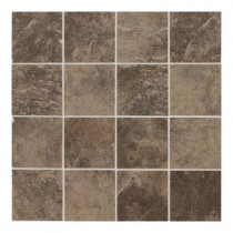 Daltile Continental Slate Moroccan Brown 12 in. x 24 in. x 6mm Porcelain Mosaic Floor or Wall Tile(22 sq. ft./case)-DISCONTINUED