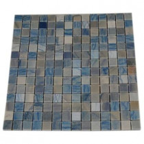 Splashback Tile Blue Macauba 12 in. x 12 in. Marble Floor and Wall Tile-DISCONTINUED