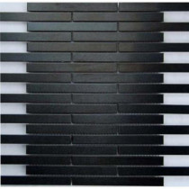 Epoch Architectural Surfaces Dancez Electric Slide Brushed Metal Mesh Mounted 3 in. x 3 in. Tile Sample