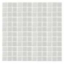 Epoch Architectural Surfaces Monoz M-White-1400 Mosiac Recycled Glass Mesh Mounted Floor and Wall Tile - 3 in. x 3 in. Tile Sample