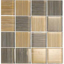 EPOCH Brushstrokes Marrone-1503-3 Mosaic Glass Mesh Mounted 4 in. x 4 in. Tile Sample-DISCONTINUED