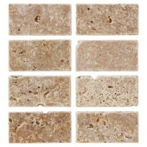 Jeffrey Court Travertine Noce 6 in. x 3 in. Travertine Wall and Floor Tile (1pack/8pieces-1sq. ft.)