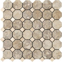 MARAZZI Campione Sampras 13 in. x 13 in. x 8-1/2 mm Porcelain Octagon Mesh-Mounted Mosaic Tile