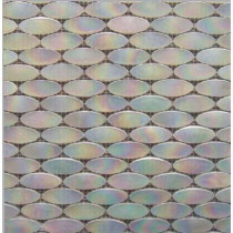 Epoch Architectural Surfaces Alpinez Whistler-1472 Oval Milk Glass Mesh Mounted Floor and Wall Tile - 3 in. x 3 in. Tile Sample