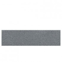 Daltile Colour Scheme Suede Gray 3 in. x 12 in. Porcelain Bullnose Floor and Wall Tile