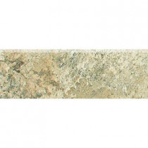 Daltile Folkstone Slate Sandy Beach 3 in. x 12 in. Porcelain Bullnose Floor and Wall Tile-DISCONTINUED