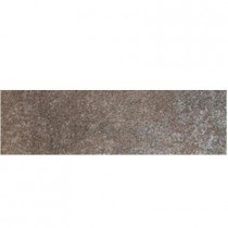 Daltile Metal Effects Shimmering Copper 3 in. x 13 in. Porcelain Surface Bullnose Floor and Wall Tile-DISCONTINUED