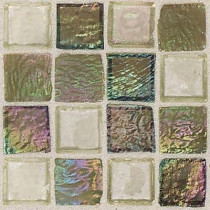Daltile Egyptian Glass Topaz Melange 12 in. x 12 in. x 6 mm Glass Face-Mounted Mosaic Wall Tile