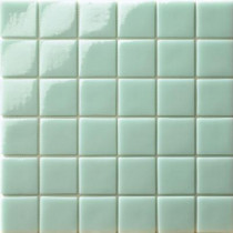 Elementz 12.5 in. x 12.5 in. Capri Giada Glossy Glass Tile-DISCONTINUED