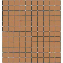 Epoch Architectural Surfaces Coffeez Cappuccino-1102 Mosiac Recycled Glass Mesh Mounted Floor and Wall Tile - 3 in. x 3 in. Tile Sample