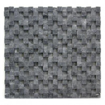 Solistone Cubist Gris 12 in. x 12 in. x 22.2mm Marble Mesh-Mounted Mosaic Wall Tile (5 sq. ft./Case)