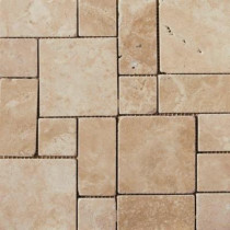 Emser 13 in. x 13 in. Coliseum Athens Glazed Porcelain Mini Versailles -Each of 1.17 sq. ft.-DISCONTINUED