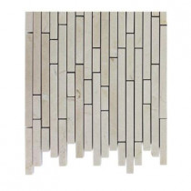 Splashback Tile Windsor 1/4 in. x Random Crema Marfil Pattern Marble Mosaic Tiles - 6 in. x 6 in. Tile Sample