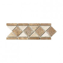 Jeffrey Court Tumbled Noce Listello 4 in. x 12 in. Travertine Floor/Wall Accent Strip