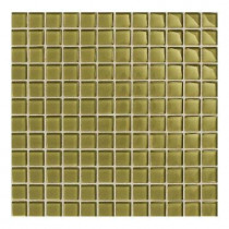Daltile Maracas Cactus 12 in. x 12 in. 8mm Glass Mesh Mounted Mosaic Wall Tile (10 sq. ft. / case)-DISCONTINUED