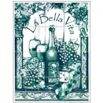 6 in. x 6 in. La Bella Vita Green Tiles (12-Pieces)-DISCONTINUED