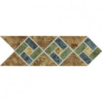 Daltile Heathland Sunset Blend 4 in. x 12 in. Glazed Ceramic Decorative Accent Floor and Wall Tile