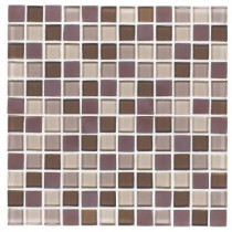 Jeffrey Court Blue Shale 12 in. x 12 in. x 8 mm Glass Mosaic Wall Tile