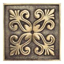 Daltile Massalia Bullion 4 in. x 4 in. Metal Frieze Wall Tile-DISCONTINUED
