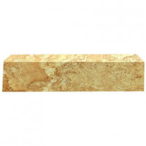 U.S. Ceramic Tile Fresno Ocre 3 in. x 16 in. Ceramic Single Bullnose Floor & Wall Tile-DISCONTINUED