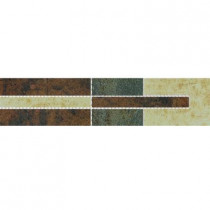 U.S. Ceramic Tile Argos 2 in. x 12-5/8 in. Multicolor Porcelain Border Mosaic Tile-DISCONTINUED