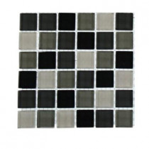 Splashback Tile Contempo City Blend 1 in. x 1 in. Glass Tile - 6 in. x 6 in. Tile Sample-DISCONTINUED