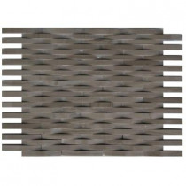 Splashback Tile 3D Reflex Athens Grey 11.5 in. x 9 in. x 8 mm Stone Wall Tile