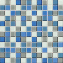 Daltile Isis Polo Blend 12 in. x 12 in. x 3 mm Glass Mesh-Mounted Mosaic Wall Tile