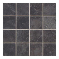 Daltile Continental Slate Asian Black 12 in. x 24 in. x 6 mm Porcelain Mosaic Tile (22 sq. ft. / case)