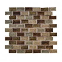 Jeffrey Court Mineral Spring Crackle 12 in. x 12 in. x 8 mm Glass Mosaic Wall Tile