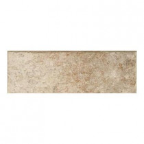 Daltile Passaggio 3 in. x 12 in. Sorano Brown Porcelain Bullnose Floor and Wall Tile-DISCONTINUED