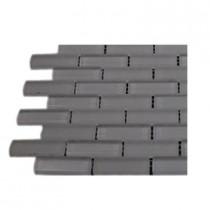 Splashback Tile Contempo Bright White 1/2 in. x 2 in. Brick Pattern Tile Sample