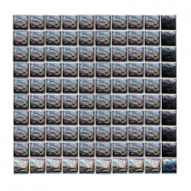 Daltile Sonterra Glass Black Iridescent 12 in. x 12 in. x 6 mm Glass Sheet Mounted Mosaic Wall Tile